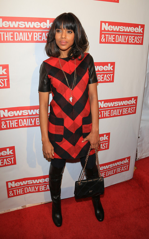 . WASHINGTON, DC - JANUARY 20:  Actress Kerry Washington attends The Daily Beast Bi-Partisan Inauguration Brunch at Cafe Milano on January 20, 2013 in Washington, DC.  (Photo by Charles Norfleet/Getty Images)