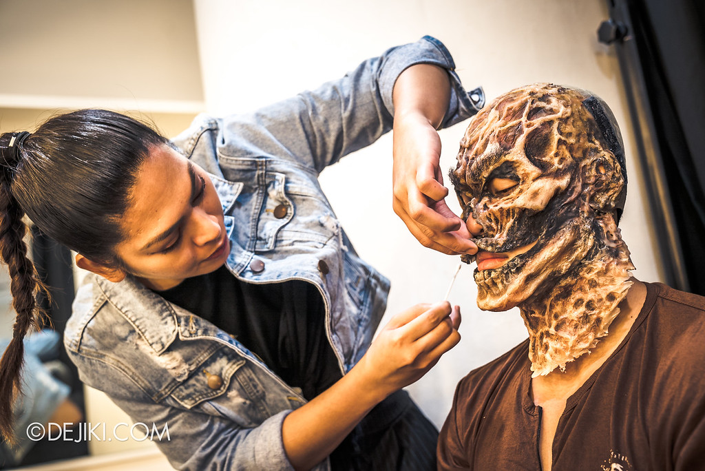 Universal Studios Singapore Halloween Horror Nights 8 Behind The Scenes / Creating the Yin Demon 1