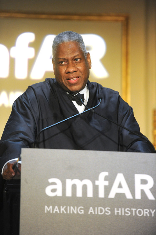 . NEW YORK, NY - JUNE 13:  Fashion Editor Andre Leon Talley performs during the 4th Annual amfAR Inspiration Gala New York at The Plaza Hotel on June 13, 2013 in New York City.  (Photo by Jamie McCarthy/Getty Images)