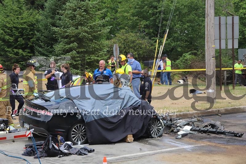 Route 8 accident. Seb Foltz/Butler Eagle