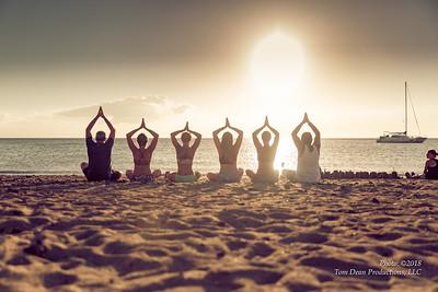 Island Bikram Yoga Sunset Shoot 9-23-18