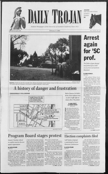 Daily Trojan, Vol. 154, No. 26, February 17, 2005