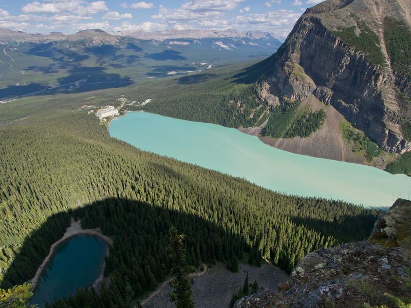 Lake Louise & mirror Lake from Big Beehive