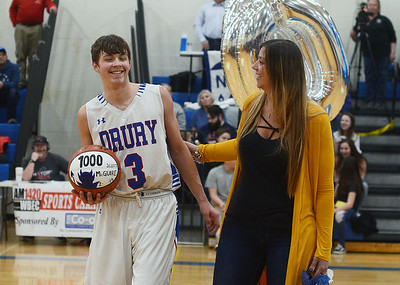 Drury's Scott McGuire scores his 1,000th point - 021519