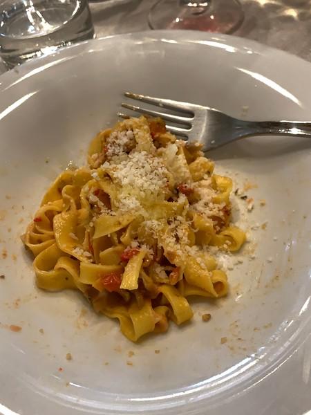 Tagliatelle and Bolognese