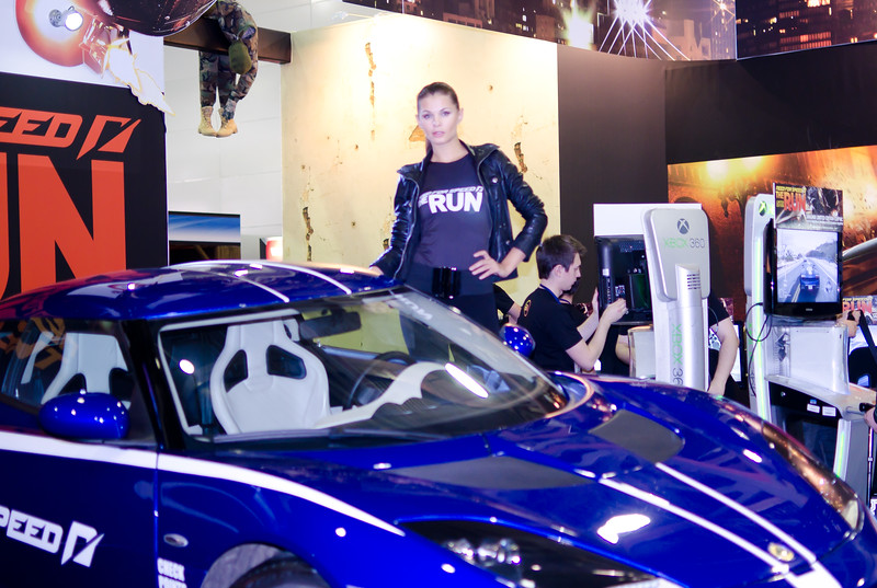NFS: The Run girl at Igromir 2011
