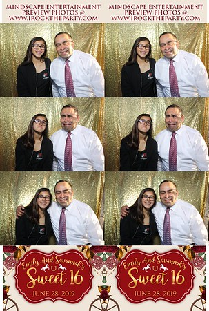Emily and Savannah's Sweet 16 - Photo Booth Pictures