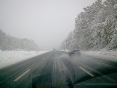 October 29 2011 Snow - Drive home from NYC