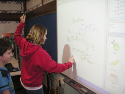 SmartBoard with Mrs. Neighbor