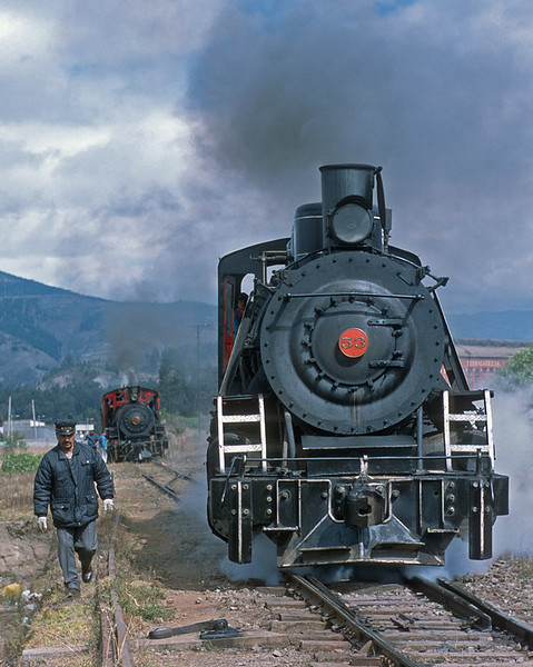 July 2003.   At Riobamba the 53 and 17 get ready for a day of work.