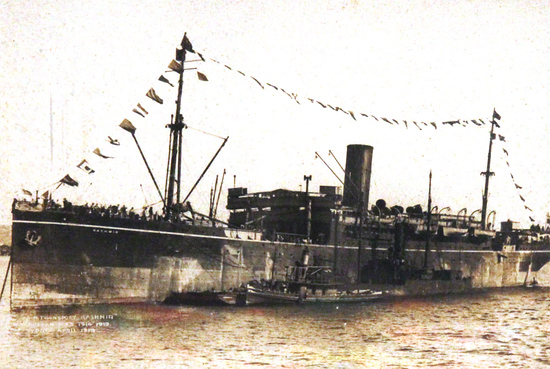 The troopship, Kashmir.
