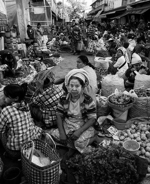 Food market in Meiktila.  Meiktila,Myanmar,2017