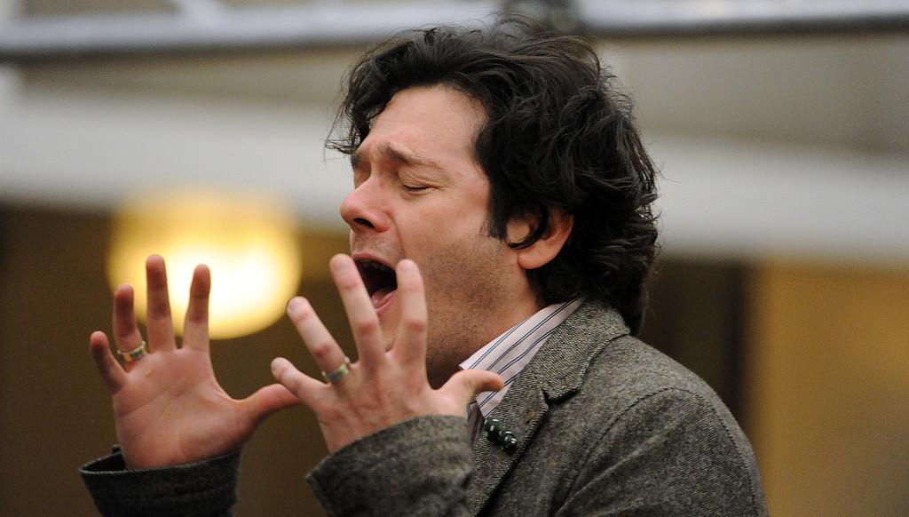 . Arturo Chacón-Cruz as Arcadio performs during a rehearsal of LA Opera\'s production of Florencia en el Amazonas at the Dorothy Chandler Pavilion in Los Angeles, Calif., Wednesday, Nov. 5, 2014.  (Photo by Keith Birmingham/ Pasadena Star-News)