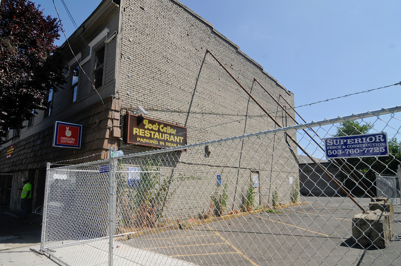 A Northwest Portland building which houses the Joe's Cellar bar is undergoing structural improvements after being shut down by the Portland Development Commission in April. Building owner C.E. John Co., Inc. has a long-term plan to redevelop the site at 1322 N.W. 21st Ave.