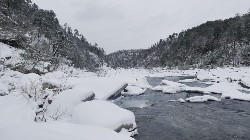 Cossatot River State Park - Snowmageddon - Feb 2021