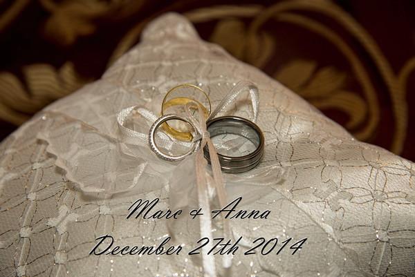 Marc & Anna Wedding Dec 27th 2014