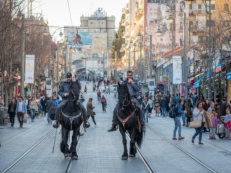 Police on Horseback, Jaffa Street, Jerusalem