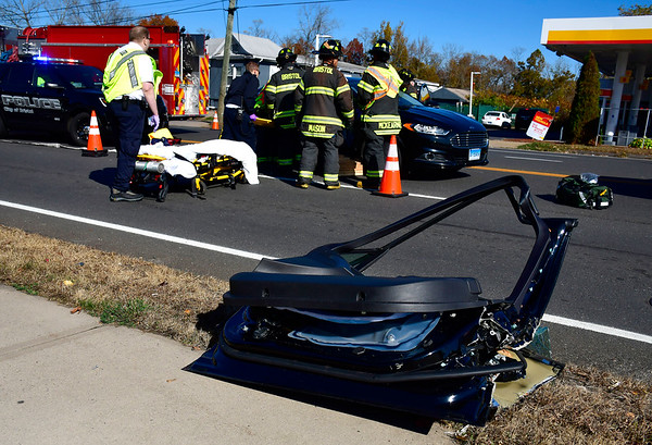 11/2/2019 Mike Orazzi | Staff One person had to extricated from a Ford Fusion after it was involved in a crash with a Cadillac SRX4 on Middle Street near the intersection with Pine Street in Bristol on Saturday. No further information was available.