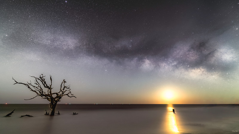 """Moonrise at Driftwood"""