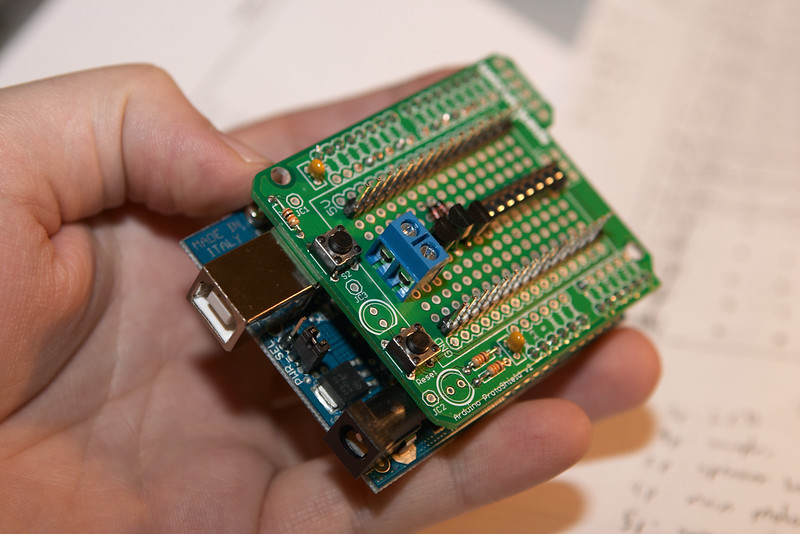 Fits right onto the microcontroller board