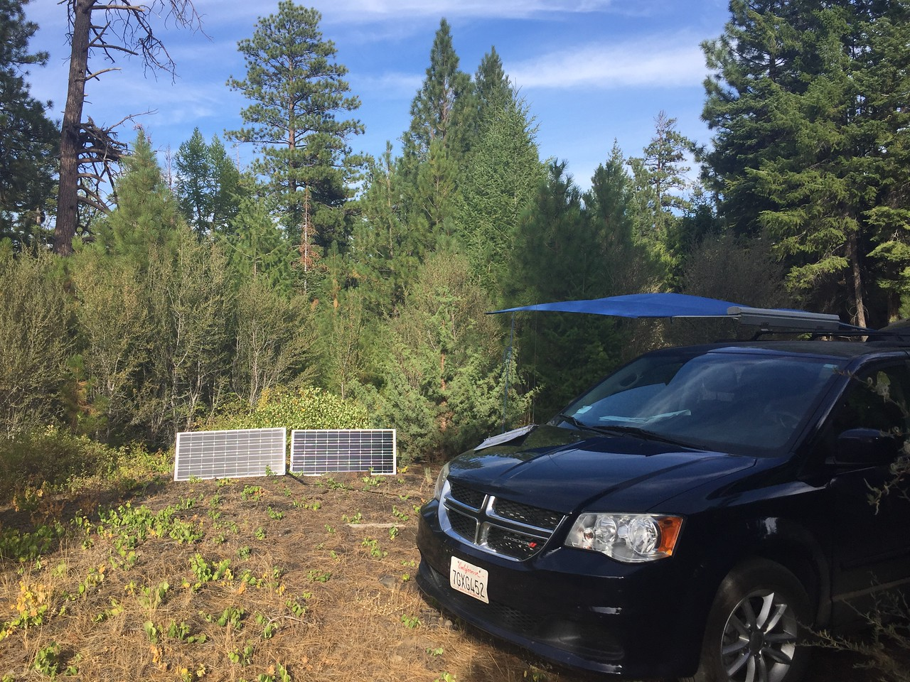 Lost Campers van with Solar