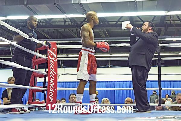 Bout 5: Semi-Pro Boxing, Devron Ford, Red Wrist Wraps vs Wesley Roberts, Blue Wrist Wraps