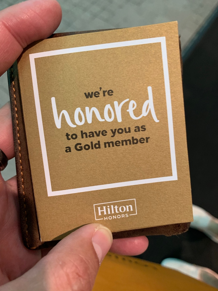 Hilton Honors Gold Member