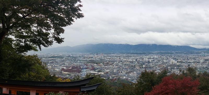 Rainy Kyoto viewed from Fushimi Inari