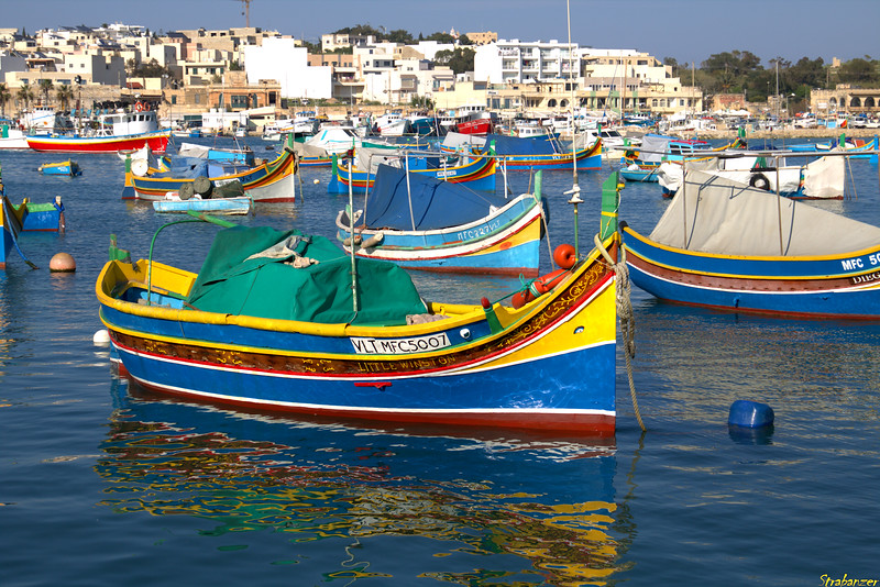Marsaxlokk harbor, Malta.    03/24/2019 This work is licensed under a Creative Commons Attribution- NonCommercial 4.0 International License