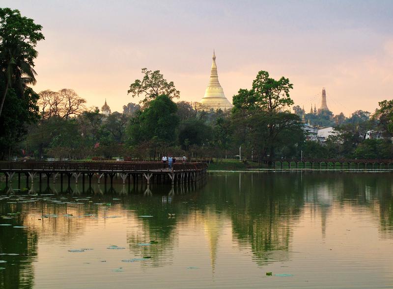 Schwedagon from the lake