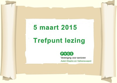 2015-0305 PVGE Trefpunt