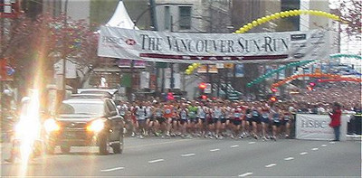 2003 Vancouver Sun Run - The start of the race