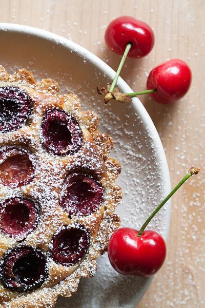 Cherry frangipane tartelette.