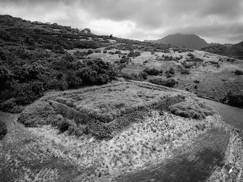 Pahukini Heiau overlooks Kawainui Marsh on the windward coast of O'ahu.