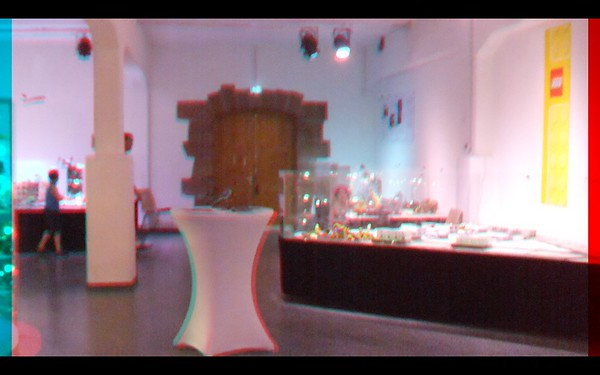 Lego Land in Anaglyph Stereo at the Ktown Gartenshau 06 June 2015