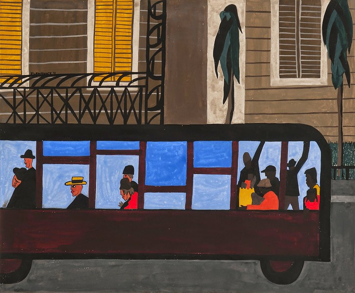 "Jacob Lawrence, ""Bus,"" 1941"