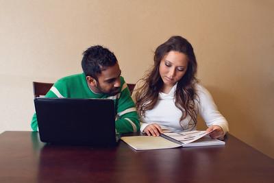 Couple Studying