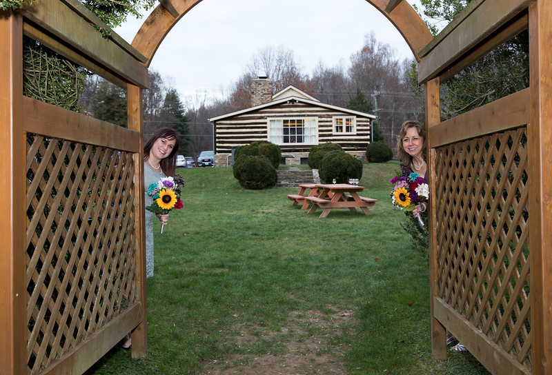 Bride and Daughter peeking out.jpg