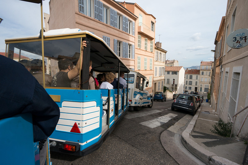 Trolley tour in Marseilles