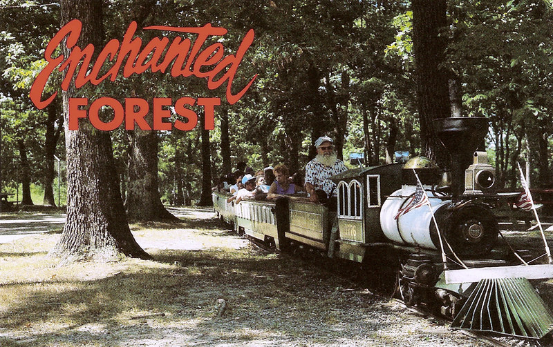 The train ride was impressively long at the Enchanted Forest.  They must have owned a lot more land than they used, but I remember that a visit wasn't complete without a trip on the train.