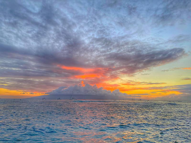Maui sunset in Lahaina