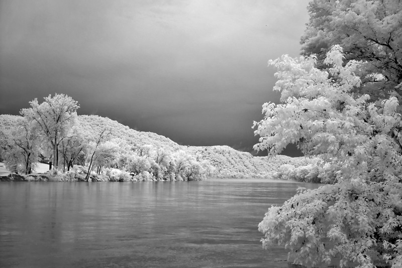 Some IR of the storm clouds and cold water. The fog had mostly lifted by this point.