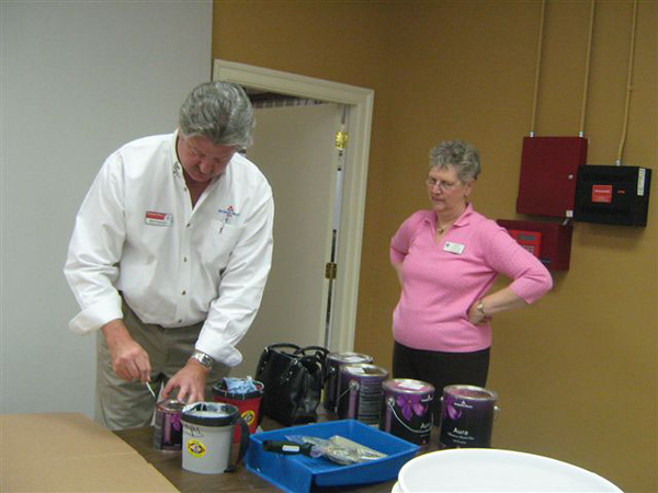 Ribbon Cutting at Local Paint Store