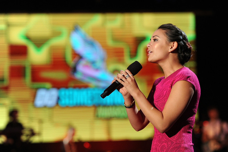 . Actress Janel Parrish speaks onstage at the DoSomething.org and VH1\'s 2013 Do Something Awards at Avalon on July 31, 2013 in Hollywood, California.  (Photo by Kevin Winter/Getty Images)