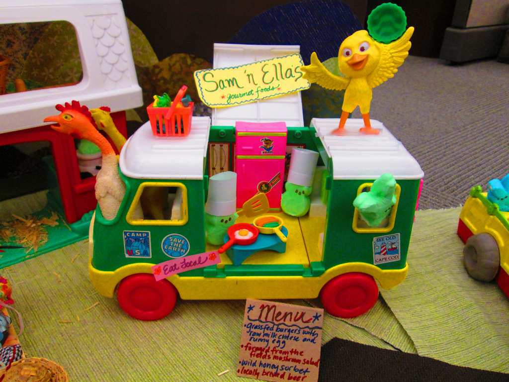 ". \""A Peeps Farm Dinner: Sam \'N Ella\'s Gourmet Foods,\"" by April Bogard, Kim Carlton, Angie Cyr, Nicole Koktavy, Sarah Leach, Michelle Messer, and Colleen Paulus"