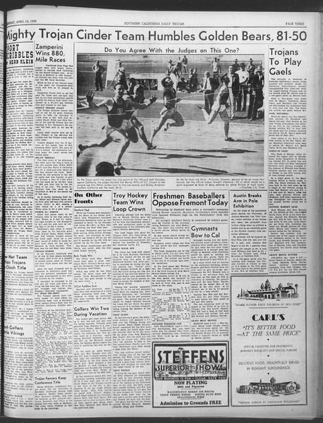 Daily Trojan, Vol. 30, No. 111, April 10, 1939