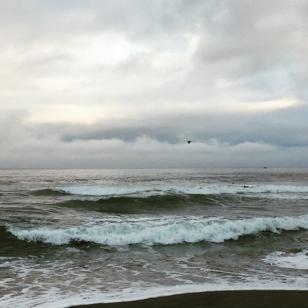 January morning at a beach in Pacifica California