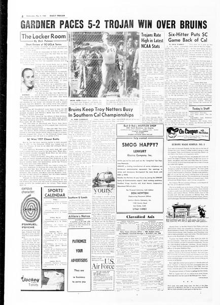 Daily Trojan, Vol. 51, No. 116, May 04, 1960