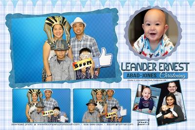Leander christening