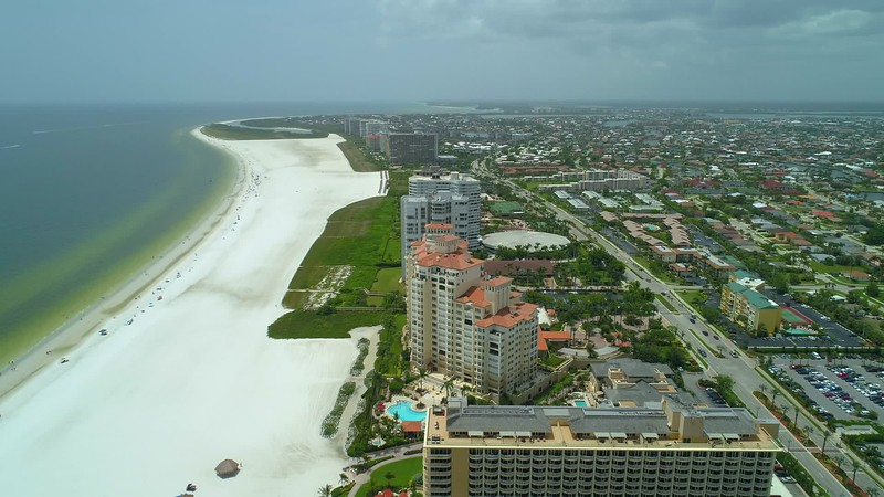 Helicopter tour Marco Island Florida video footage